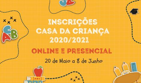 Inscrições Ano Lectivo 2020/2021 – Casa da Criança